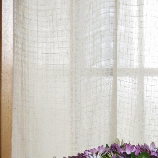 画像3: カーテン ガーゼ H1600(腰窓用) スクエア
