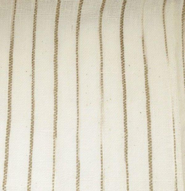 画像2: カーテン ガーゼ UVカット率62.9% H1600(腰窓用)よもぎライン
