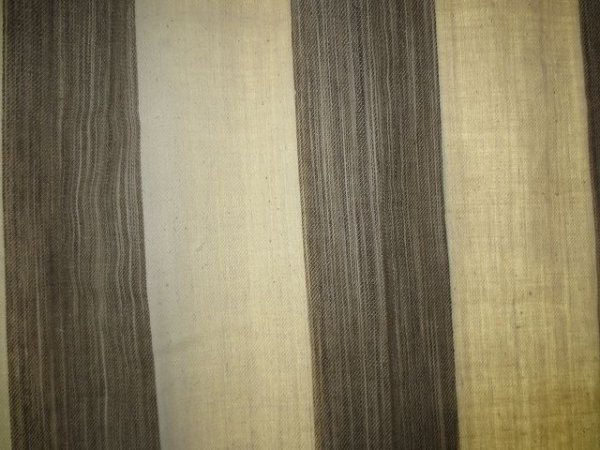 画像3: カーテン H2300(高窓用) よもぎ草木染め&生成りボーダー