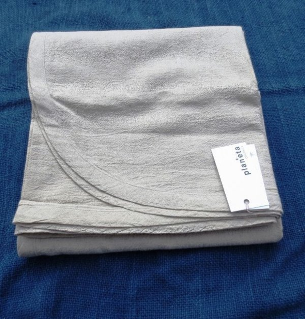 画像1: ブランケット ヘンプ100%/無漂白/シングル/薄手生地