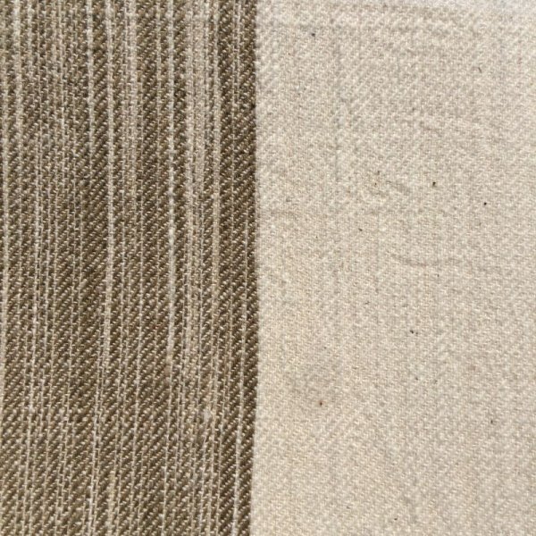 画像4: カーテン H2300(高窓用) よもぎ草木染め&生成りボーダー
