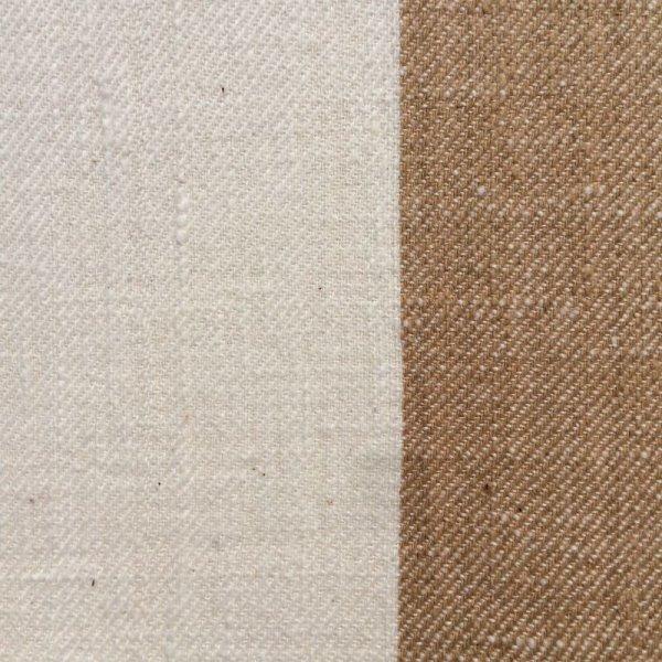 画像2: カーテン H2300(高窓用) 茶綿&生成り