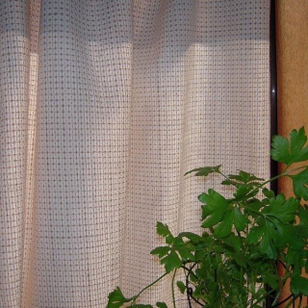 画像2: (N-12) 生成+茶綿クロス 綾織布 布売り