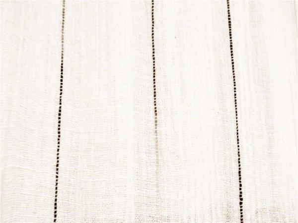 画像1: カーテン ガーゼ UVカット率62.9% H1600(腰窓用)五倍子ライン