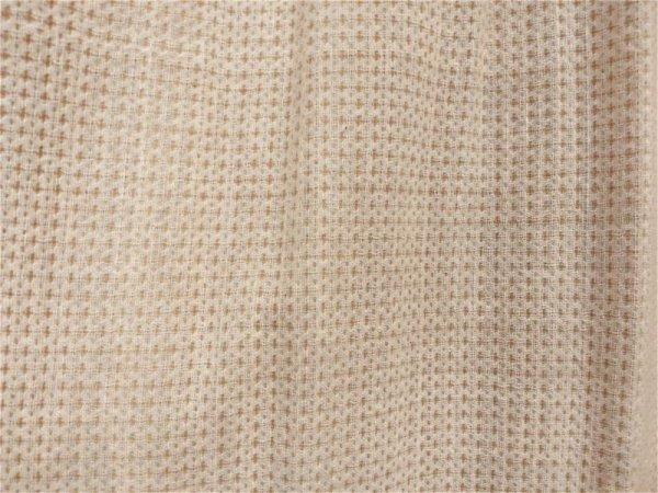 画像1: (N-12) 生成+茶綿クロス 綾織布 布売り